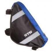 Велосумка STG мод. 12490 размер. M под раму,треугольная ,черная/серая.