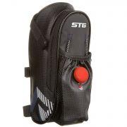 Велосумка STG мод.131396 под седло ,с карманом для фляги, с красным фонарем сзади,1-о отделен