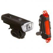Комплект фонарей STG перед. FL1559 (350 люм. бел. Usb 2000 mAH. С датчиком света ) зад.  TL5411 ( 5