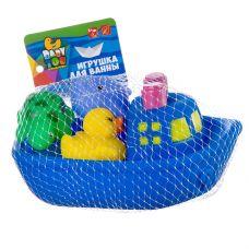 Набор игрушек для купания, BONDIBON, Корабль, дельфин, утенок, черепаха grt-ВВ2755 Bondibon 392 р. Игрушки для купания