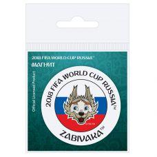"Магнит картон Забивака ""Улыбайся!"" триколор grt-СН534 FIFA 2018 20 р. Магниты"