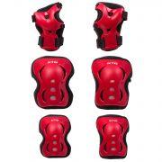 Защита детская STG YX-0317 комплект:наколенники, налокотник, защита кисти.красный, размер М