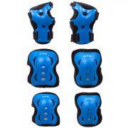 Защита детская STG YX-0317 комплект:наколенники, налокотник, защита кисти.синий, размер М
