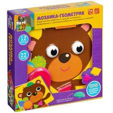 Мозаика для малышей Bondibon, ГЕОМЕТРИЯ, 12 картинок-шаблонов, 22 фишки-геом. фигуры, BOX grt-ВВ2869 Bondibon 1 061 р. Пазлы, мозаики, рамки-вкладыши BABY YOU