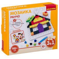 Логические, развивающие игры и игрушки Bondibon Мозаика «РАНЧО», 98 дет., BOX 16x4x14 см grt-ВВ3024 Bondibon 200 р. Мозаики