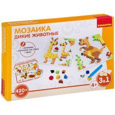 Логические, развивающие игры и игрушки Bondibon Мозаика «ДИКИЕ ЖИВОТНЫЕ», 420 дет., BOX 30x4.5x21 см grt-ВВ3032 Bondibon 855 р. Мозаики