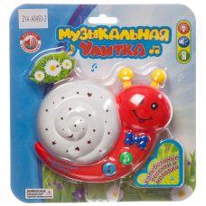Музыкальная улитка-ночник светящ., на бат.,колыбельные песни и мелодии, CRD 20x9x20 см, 2 вида, арт. grt-Б93449 ZHORYA 441 р. Развивающие игрушки на батарейках