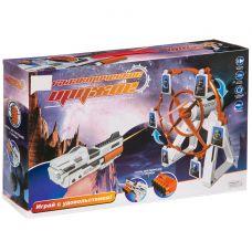 """Игровой набор пистолет на бат.с подвижной мишенью,серия """"Галактическое оружие"""", свет,звук,мягк.патро grt-К93479 ZHORYA 1 659 р. Оружие со звуковыми и световыми эффектами"""