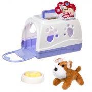 Игрушка щенок мягий в будке-переноске с миской и косточкой, РАС, арт. 801С.