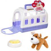 Игрушка щенок мягий в будке-переноске с миской и косточкой,РАС, арт. 802С.