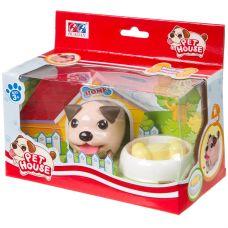 Игрушка щенок пласт. на бат., ходит, с миской и косточкой., арт. 606. grt-Н93495 430 р. Развивающие игрушки на батарейках