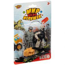 Набор игр.военный с 2 солдатиками, серия Мир micro Игрушек, CRD 13,5x20x3,5см, арт.M7599-7 grt-К93744 YAKO 191 р. Наборы солдатиков, полиции, пожарных