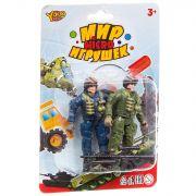 Набор игр.военный с 2солдатиком ,серия  Мир micro Игрушек, CRD 13,5x20x3,5 см, арт.M7606.