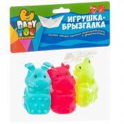 Игр. наб. для купания с брызгалкой, Bondibon, корова, лягушка, кролик, pvc