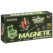 Магнитный конструктор MAGNETIC, 42 детали,  ВОХ 16×8×2,5 см, арт.00323A.