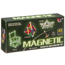 Магнитный конструктор MAGNETIC, 42 детали, ВОХ 16×8×2,5 см, арт.00323A. grt-Г93663 431 р. Конструкторы магнитные