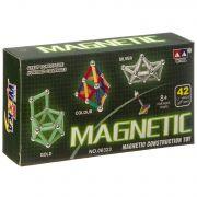 Магнитный конструктор MAGNETIC, 42 детали,  ВОХ 16×8×2,5 см,  арт.00323С.