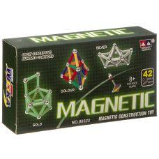 Магнитный конструктор MAGNETIC, 42 детали, ВОХ 16×8×2,5 см, арт.00323С. grt-Г93665 426 р. Конструкторы магнитные