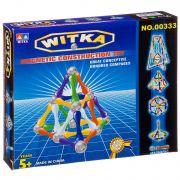 Магнитный конструктор WITKA, 40 дет. палочек и 24 дет. шариков ,  ВОХ 22×18×3,5 см, арт.00333D.