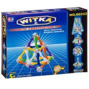 Магнитный конструктор WITKA, 36 дет. палочек и 20 дет. шариков ,  ВОХ 22×18×3,5 см, арт.00333E.