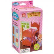 Игровой набор Happy Family с фигуркой зверюшки, спальня, 7,5х12,5х6,52 см, BOX, арт.012-02B.