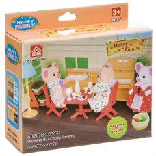 Игровой набор Happy Family с фигуркой зверюшки, кухня, 12,5х10х4 см, BOX, арт.012-03B. grt-Д93755 321 р. Домики, замки,кареты