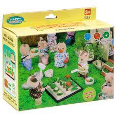 Игровой набор Happy Family с фигуркой зверюшки, огород, 14х10х4,5 см, BOX, арт.012-06B. grt-Д93687 363 р. Домики, замки,кареты