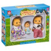 Игровой набор Happy Family фигурки зверюшек, семейка котиков , BOX 19,2×15,2×4,5 см, арт.012-11D.