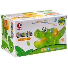 Игр. пласт. на бат. музык.,светящ и движущ. Крокодил , ВОХ 18х10х8 см, арт.060A. grt-Б93899 324 р. Развивающие игрушки на батарейках