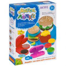 Набор с массой для лепки Bondibon, ФАСТФУД, 10 предметов, BOX grt-ВВ3319 Bondibon 301 р. Масса, тесто для лепки