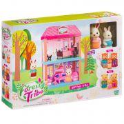 Игровой набор 2-этажный  дом ( гостиная ,спальня)  Forest Ttibe с фигурками зверюшек, BOX, арт.60233