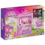 Игровой набор 2-этажный  дом ( гостиная ,спальня) с куколками, BOX, арт.60312.