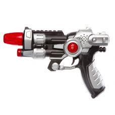 Оружие пистолет на бат. со светом и звуком, РАС 25х18х5 см, арт.66B-1. grt-К94332 278 р. Оружие со звуковыми и световыми эффектами
