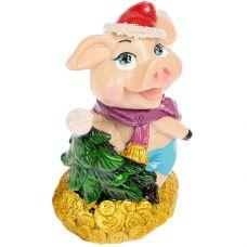 н.г. символ года фигурка свинья 6,9*4,7*7,8см 2в. grt-Е96570 Snowmen 69 р. Фигурки из керамики и полистоуна