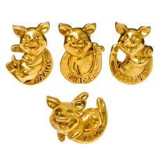 н.г. символ года фигурка свинья 5,7*2*5,2см 4в. grt-Е96585 Snowmen 32 р. Фигурки из керамики и полистоуна