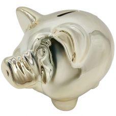 копилка свинья 12*8,5*8,5см покрытие под золото grt-Е96590 Snowmen 429 р. Копилки