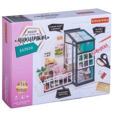 Набор для творчества BONDIBON, миниатюра интерьерная 3D, БАЛКОН, румбокс grt-ВВ3339 Bondibon 2 377 р. Поделки из бумаги и картона