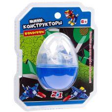 Мини-конструктор в синем яйце, 2в1- динозавр , 45 дет., BONDIBON, PVC 17×14,5×6 см grt-ВВ3236-С Bondibon 178 р. Bondibon Конструкторы блочные