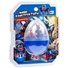 Мини-конструктор в синем яйце, 2в1- робот-машина , 66 дет., BONDIBON, PVC 17×14,5×6 см grt-ВВ3239-С Bondibon 191 р. Bondibon Конструкторы блочные