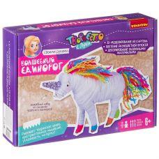 Набор для творчества BONDIBON. Объемные игрушки из картона и ниток. Волшебный единорог! grt-ВВ3357 Bondibon 410 р. Поделки из бумаги и картона