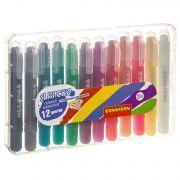Набор гелевых карандашей для рисования Bondibon 12 цветов, оттенки металлик, в пластиковой коробке,