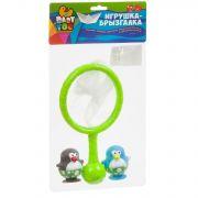 Игр. наб. для купания с брызгалкой, Bondibon, сачок и 2 пингвина, pvc