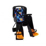 Кресло детское Переднее GH-908E черное с разноцветным текстилем