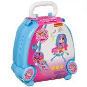 Набор игровой в чемоданчике 32х29х40 см, 27 дет., со светом и звуком,  Bondibon, парикмахер-визажист