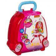 Набор игровой в розовом чемоданчике 32х29х40 см, 31 дет., со светом и звуком,  Bondibon, кухня,  арт