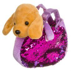 Собачка в сумке с пайетками, Bondibon МИЛОТА, c ошейником и поводком, PAC, лабрадор 19 cм, арт. LEO1 grt-ВВ3967 Bondibon 789 р. Мягкие игрушки без функций