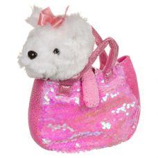 Собачка в сумке с пайетками, Bondibon МИЛОТА, c ошейником и поводком, PAC, болонка 19 cм, арт. LEO19 grt-ВВ3968 Bondibon 786 р. Мягкие игрушки без функций