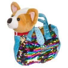 Собачка в сумке с пайеткиами, Bondibon МИЛОТА, c ошейником и поводком, PAC, чихуахуа 19 cм, арт. LEO grt-ВВ3969 Bondibon 785 р. Мягкие игрушки без функций