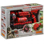 Бластер Bondibon «ВЛАСТЕЛИН», в наборе 10 мягких пуль, бомба, карта-ходилка, BOX 32х8х22 см