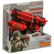 Бластер Bondibon «ВЛАСТЕЛИН», в наборе 6 мягких пуль, BOX 21х20х5см